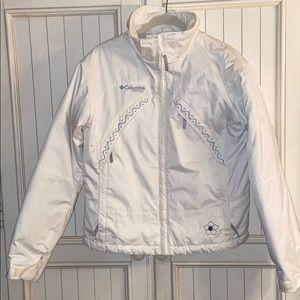 Columbia white ski jacket